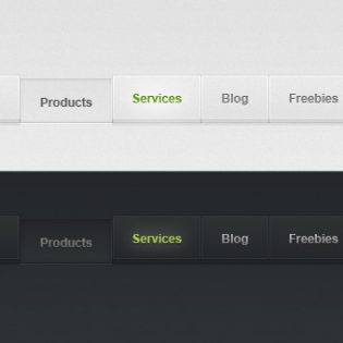 Light and Dark Free PSD Web Menu