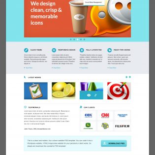 BisLite Business Website PSD Templates