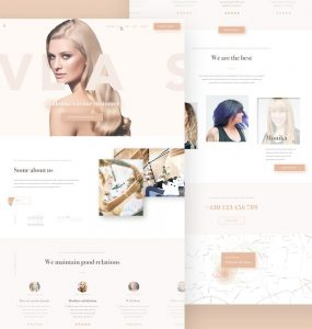 Beauty Salon Website Template PSD