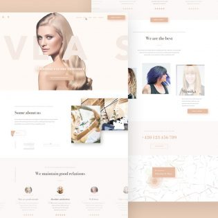Beauty Salon Website Template PSD