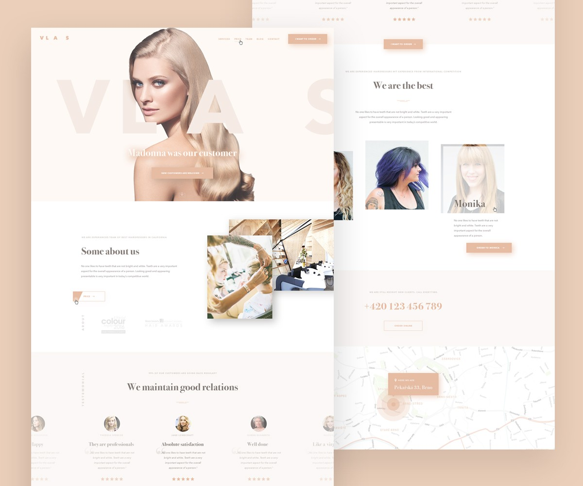 Beauty Salon Website Template Psd Download Psd