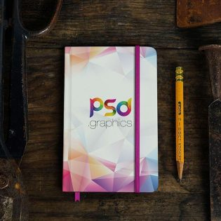 Classic Notebook Mockup Free PSD