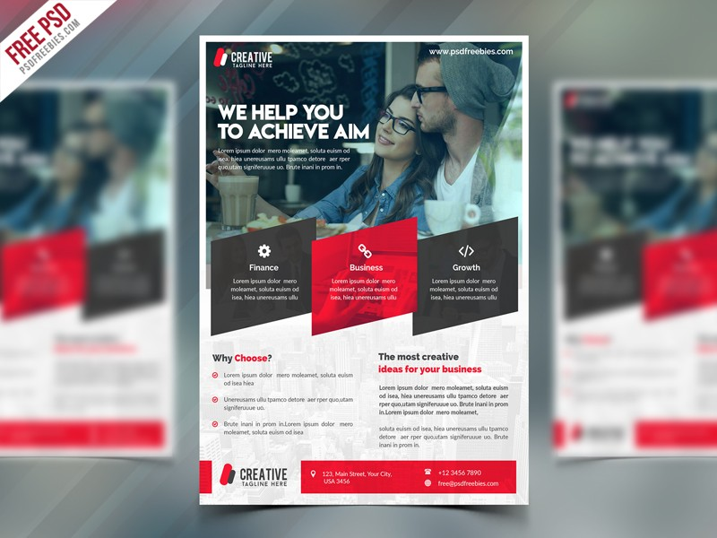 Corporate Flyer Free Psd Template Download Download Psd