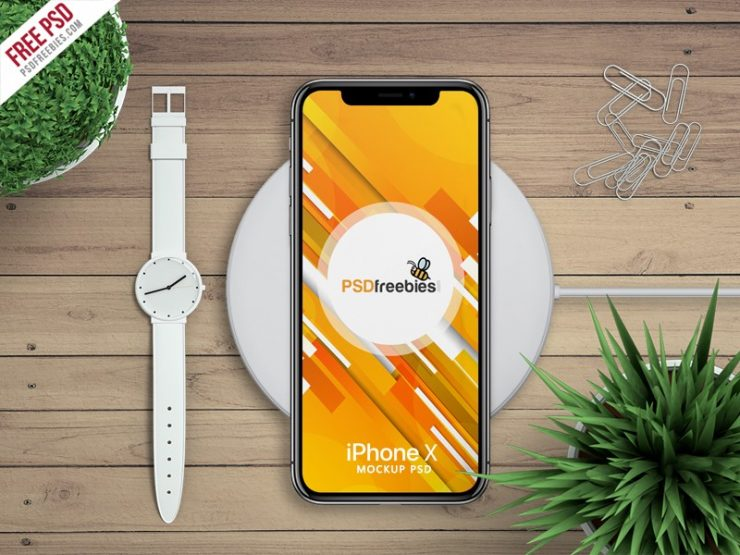 Free Apple iPhone X Mockup PSD
