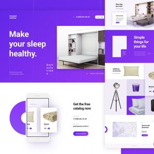 Furniture and Product Website Template Free PSD