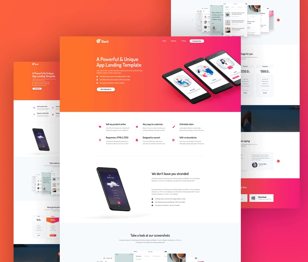 mobile site template free download mobile app website template free psd download psd