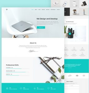 Modern Portfolio Website Template PSD