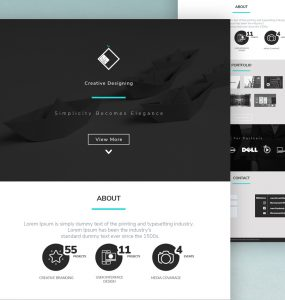 Simple Portfolio Web Template PSD