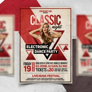 Vintage Party Flyer PSD Template