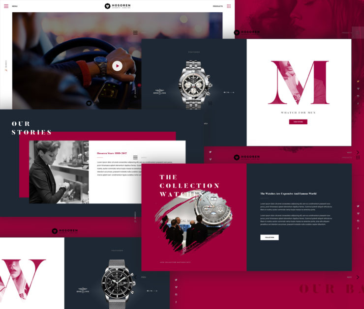 Watch Store eCommerce Website Template PSD