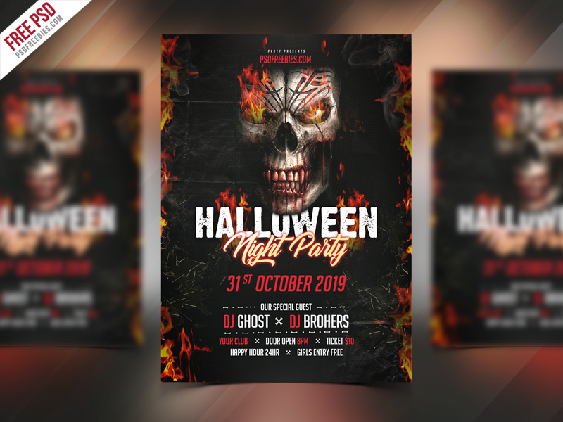 Halloween Party Invitation Flyer Psd Template Download  Download Psd