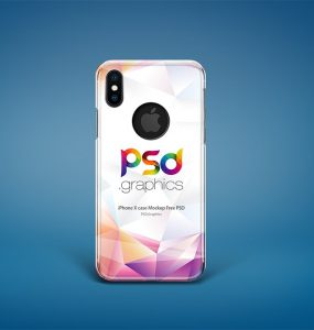iPhone X Case Mockup PSD