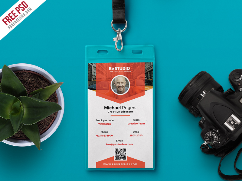 Free Office Identity Card Psd Download  Download Psd