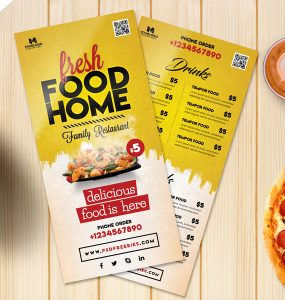 Food Menu Card PSD Template Freebie