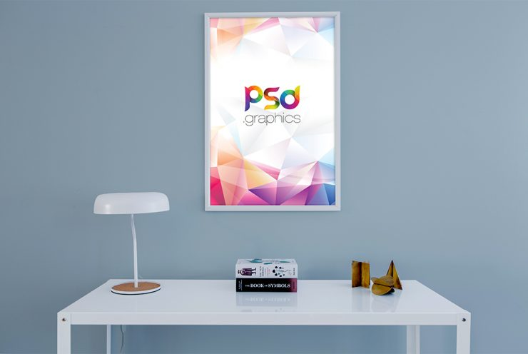 Wall Photo Frame Mockup Free PSD