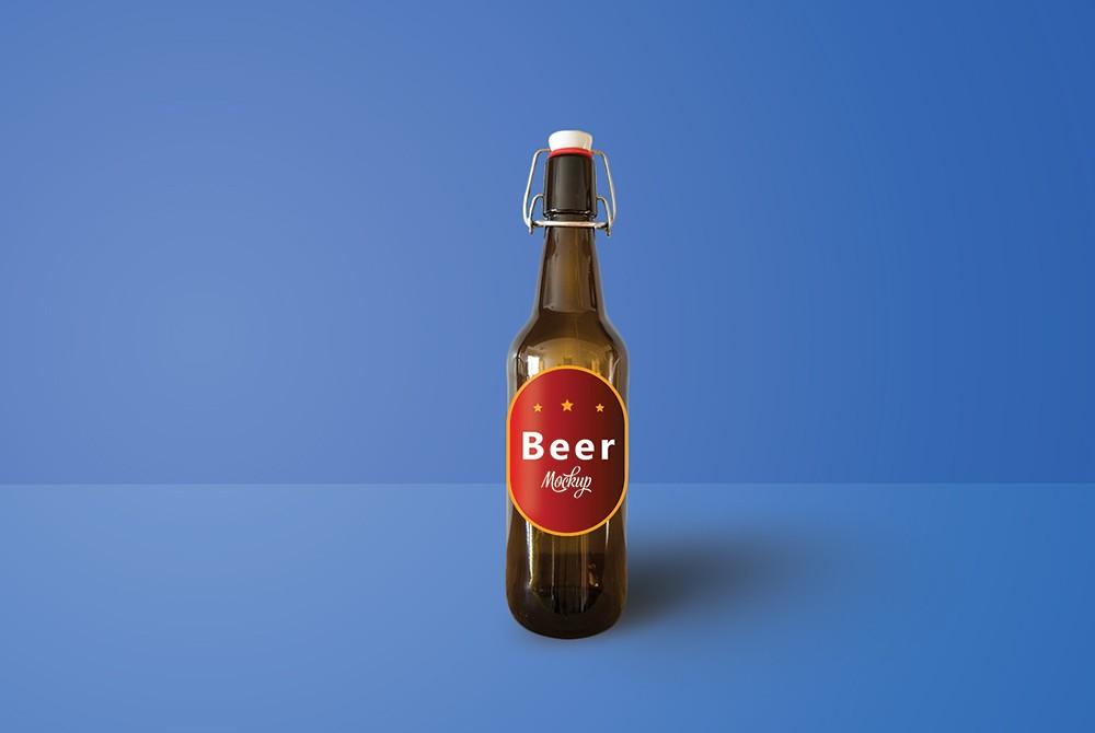 beer bottle mockup psd download download psd. Black Bedroom Furniture Sets. Home Design Ideas