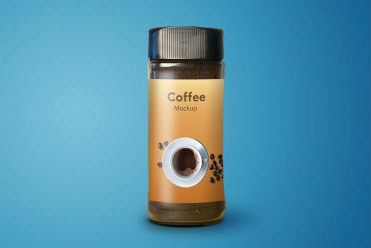 Coffee Jar Mockup Free PSD
