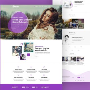 Creative Agency Free Website Template PSD