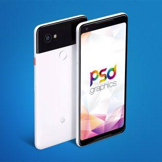 Google Pixel 2 Mockup Free PSD