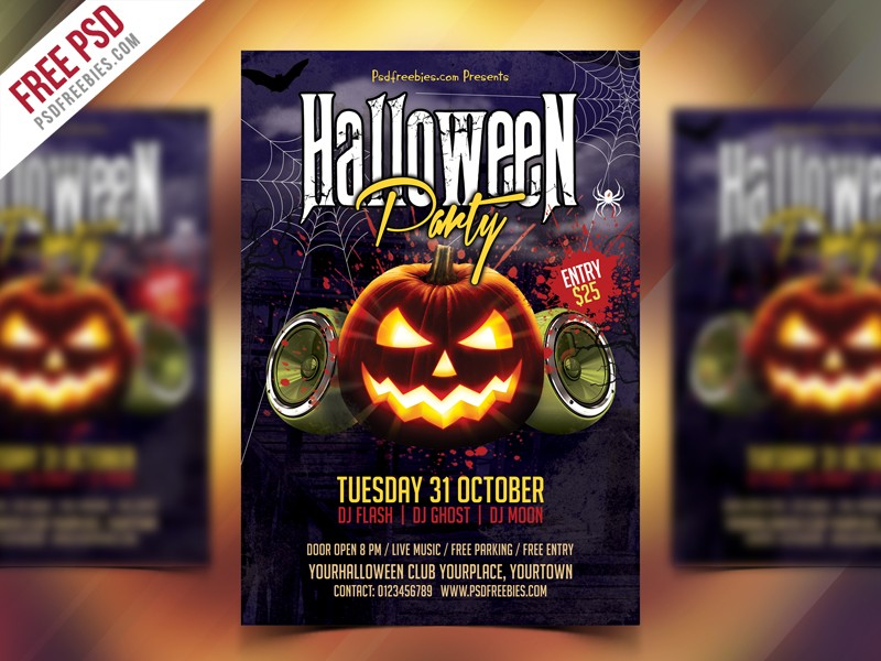 Halloween Party Flyer PSD Download - Download PSD