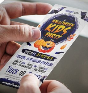 Halloween Party Invitation Card Free PSD