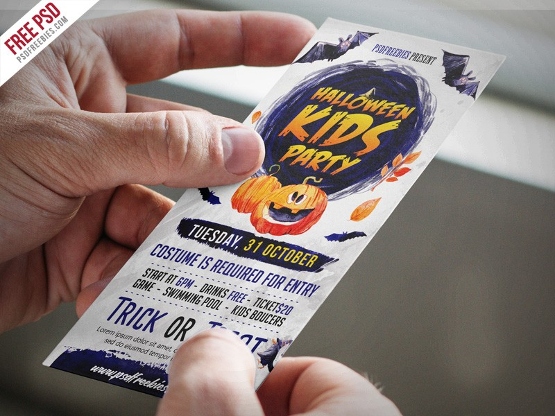 Halloween Party Invitation Card Free PSD Download - Download PSD