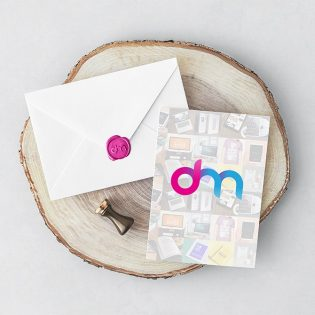 Invitation Card and Envelope Mockup PSD
