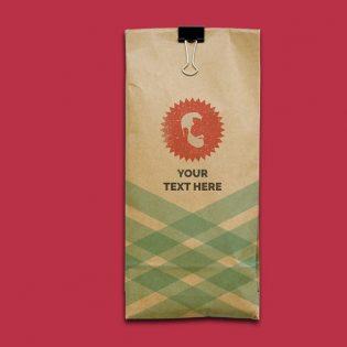 Kraft Paper Bag Mockup PSD