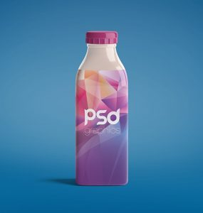 Milk Bottle Mockup PSD