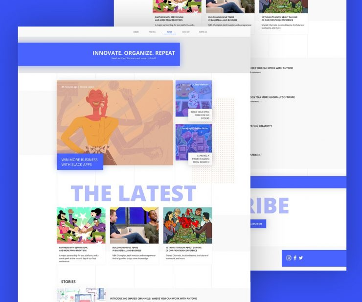 Minimalistic Blog Template Free PSD