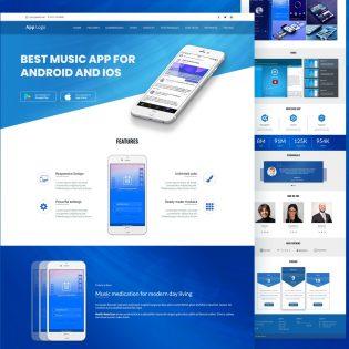 Mobile App Landingpage Template PSD