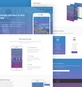 Mobile App Website Template PSD
