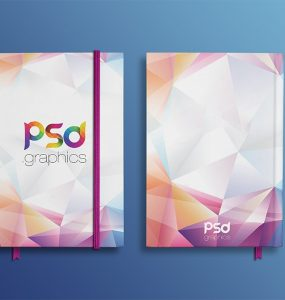 Notebook Front & Back Mockup Free PSD