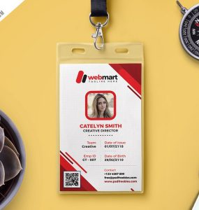 Download free name tag mockup psd download psd for University id card template