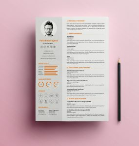 simple cv resume psd template web developer resume us resume us letter template