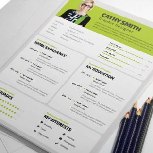 Simple Resume Template PSD