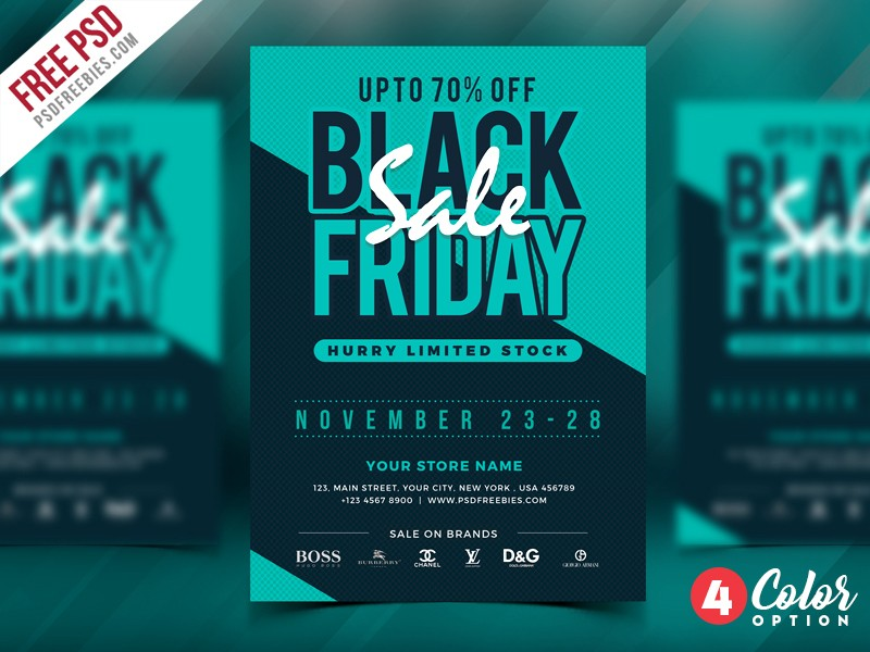 Black Friday Sale Flyer Template PSD Download Download PSD - Sales flyer template photoshop
