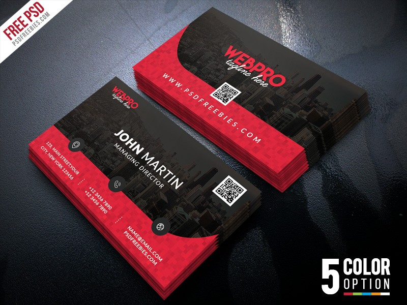 Corporate Business Card PSD Template Download - Download PSD