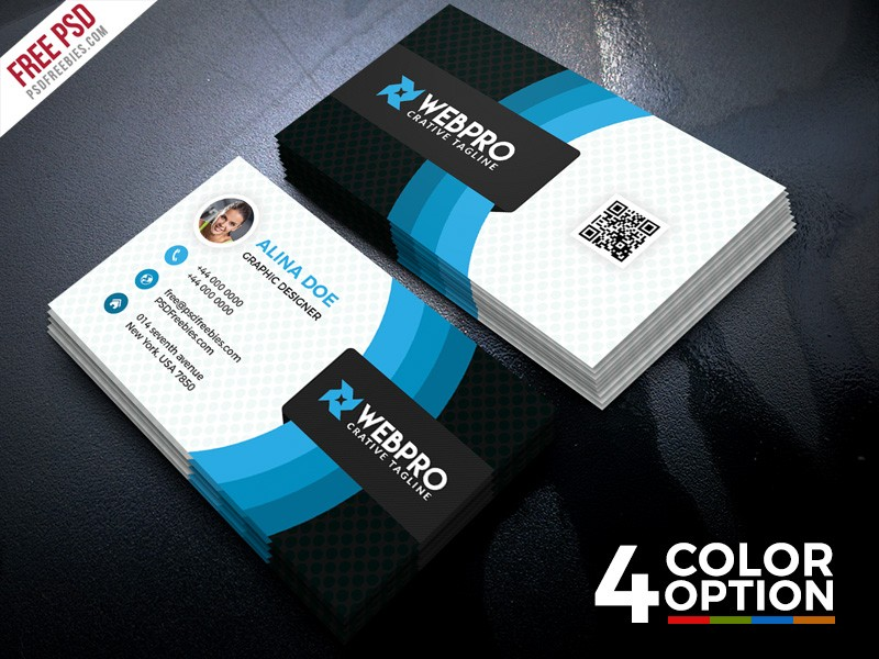 Corporate Business Card Template PSD Download Download PSD - Portrait business card template