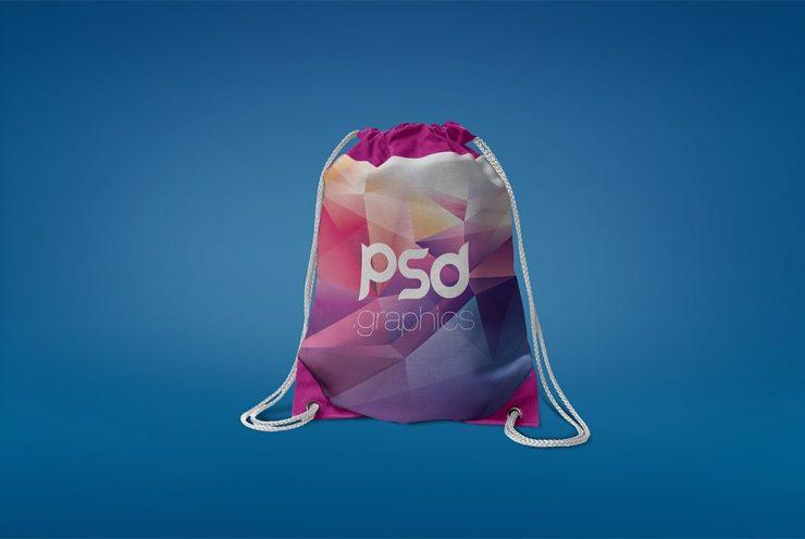 Free Drawstring Bag Mockup PSD