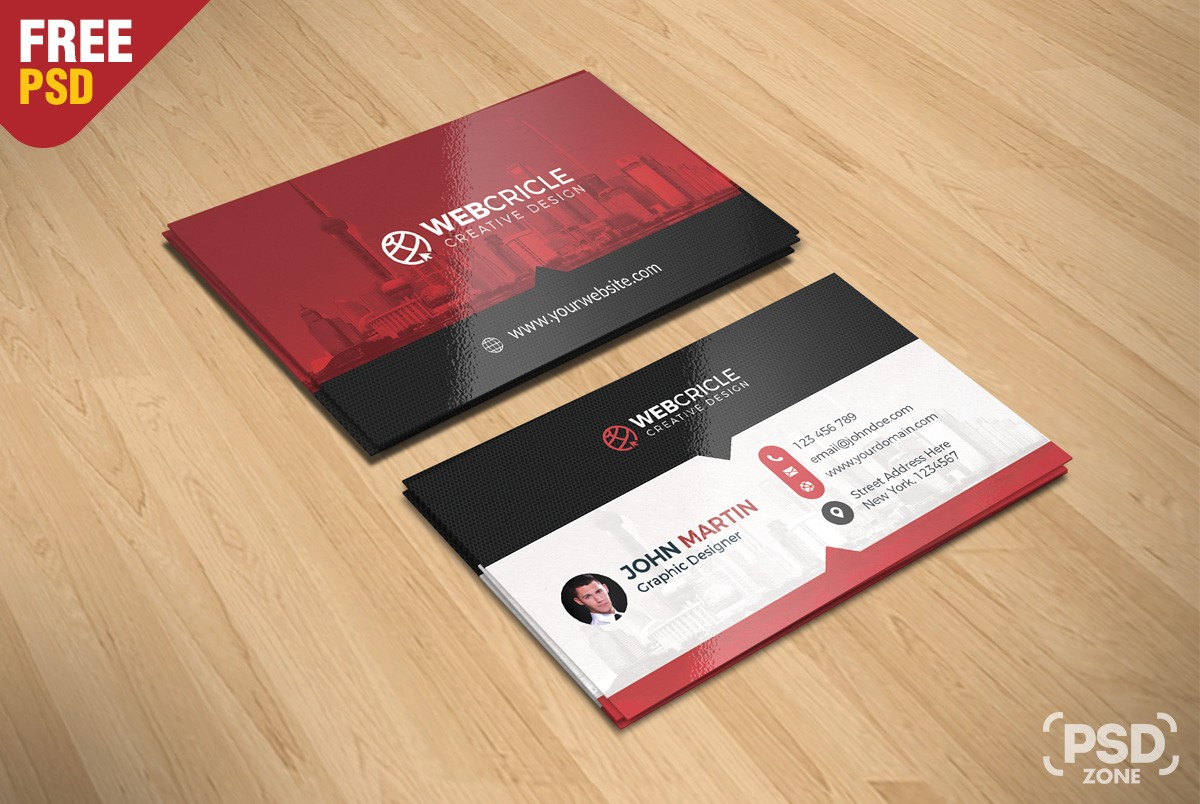 Free corporate business card psd download download psd for Business card online free