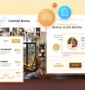 Free Hotel Booking UI Kit PSD