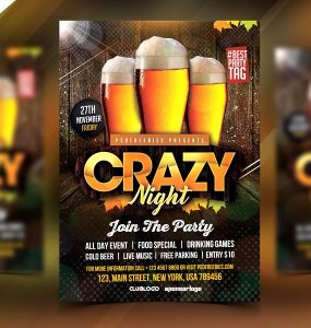 Free Night Club Party Flyer Template PSD