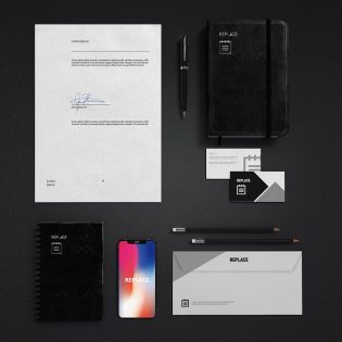 Free Office Stationery Mockup PSD
