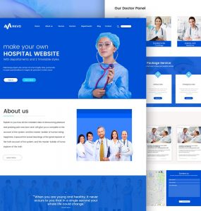 Hospital Website Template Free PSD