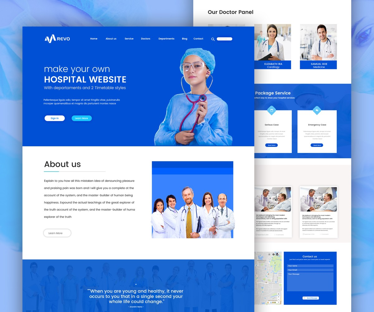 Hospital Website Template Free Psd Download Download Psd