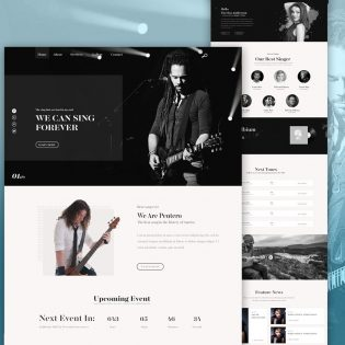Music Band Website PSD Template