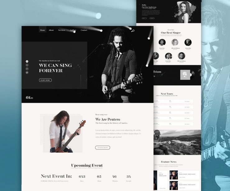 Music Band Website PSD Template www, Website Template, Website Layout, Website, webpage, Web Template, Web Resources, web page, Web Layout, Web Interface, Web Elements, Web Design, Web, User Interface, unique, UI, tour, tickets, Template, Stylish, Single Page, Singers, singer website, singer, Simple, show, Resources, Quality, Psd Templates, PSD Sources, psd resources, PSD images, psd free download, psd free, PSD file, psd download, PSD, Portfolio, Photoshop, Personal Website, Personal Portfolio, Personal, pack, original, online music, one page, new, musician website, musician, musical, music portal, Music Player, music concert booking, music concert, music band website template, music band website, music band, music album, Music, Modern, Listen, Layered PSDs, Layered PSD, Homepage, Graphics, Fresh, Freebies, Freebie, Free Resources, Free PSD, free download, Free, Event, Elements, download psd, download free psd, Download, DJ, detailed, Design, dark website template, Dark, Creative, Corporate, concert, Clean, Black, band website template, band website, band, Artist, aritists, album, Adobe Photoshop,