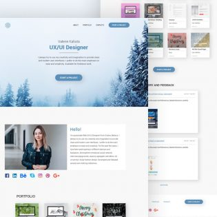 Personal Website Landing Page Template PSD
