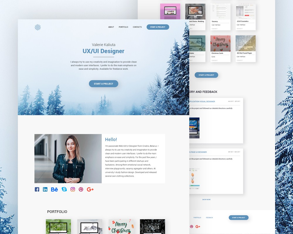 Personal Website Landing Page Template PSD Download - Download PSD